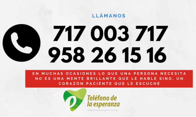 Número del Teléfono de la Esperanza ……..¡llámanos!!