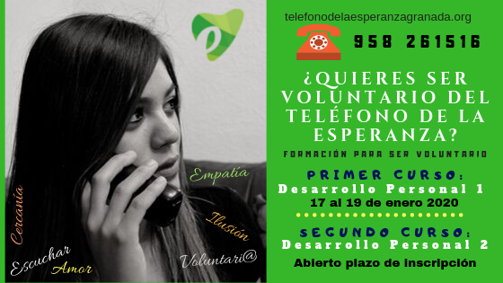 ¿Quieres ser voluntario del teléfono de la Esperanza?