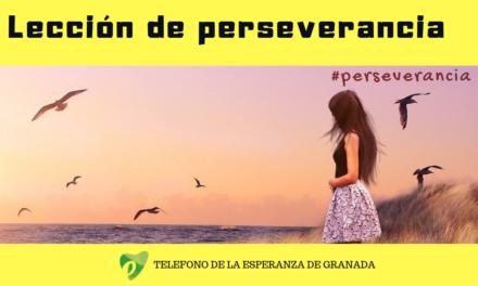 Lección de perseverancia