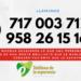 Número del Teléfono de la Esperanza ........¡llámanos!!